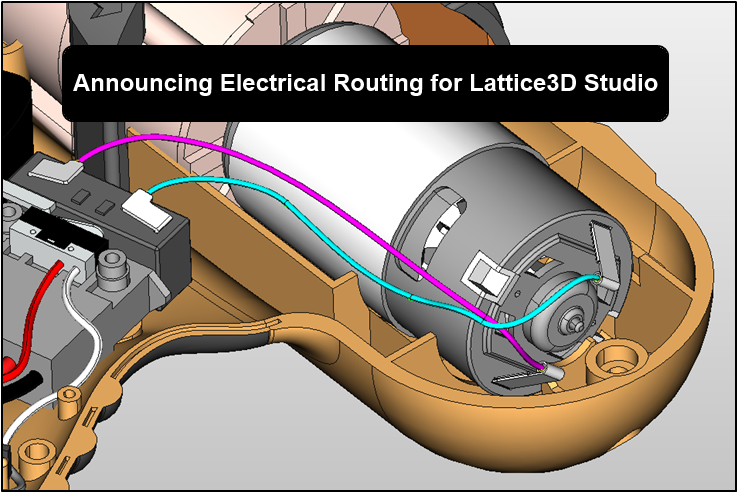 electrical routing in 3d Remote Control Design